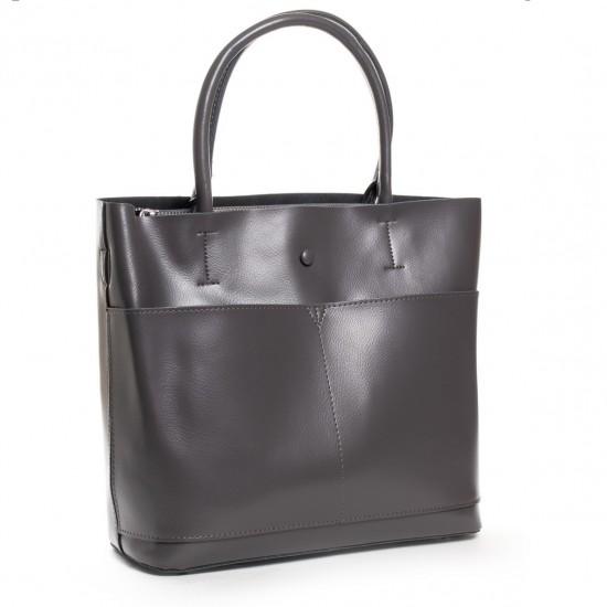 Женская сумка из натуральной кожи ALEX RAI 13-9505 серый