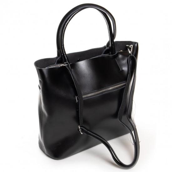 Женская сумка из натуральной кожи ALEX RAI 13-9505 черный