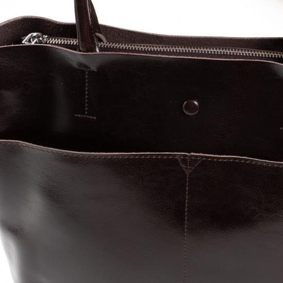 Жіноча сумка з натуральної шкіри ALEX RAI 13-9505 коричневий