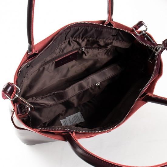 Женская сумка из натуральной кожи ALEX RAI 13-9505 бордовый