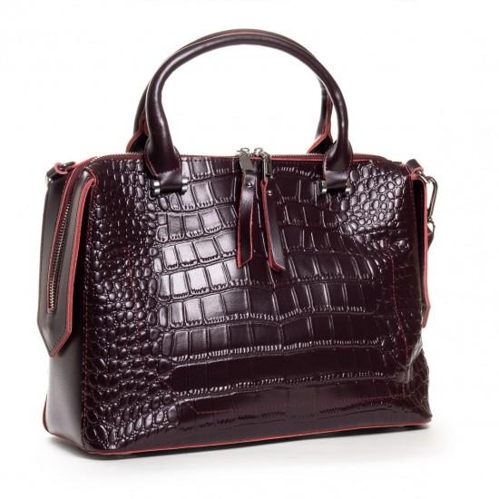 Жіноча сумка з натуральної шкіри ALEX RAI 20-8542 бордовий