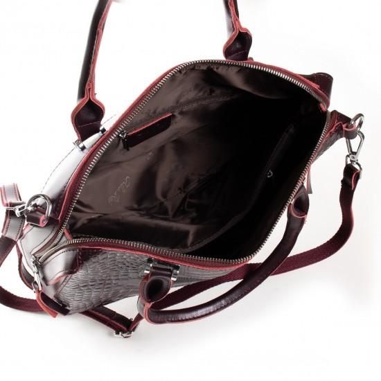Женская сумка из натуральной кожи ALEX RAI 20-8542 бордовый