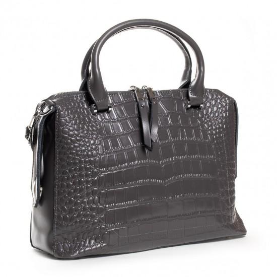 Женская сумка из натуральной кожи ALEX RAI 20-8542 серый