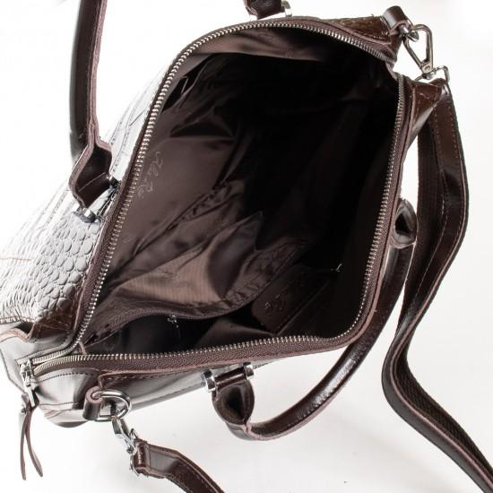 Жіноча сумка з натуральної шкіри ALEX RAI 20-8542 коричневий