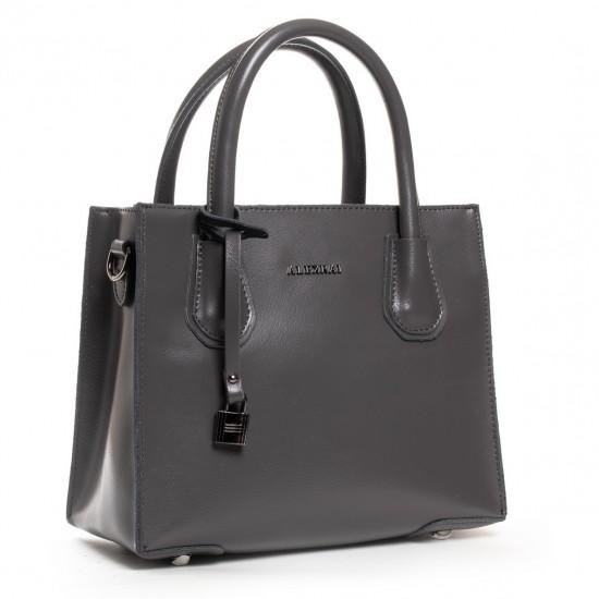 Женская сумка из натуральной кожи ALEX RAI 19-P1527 серый