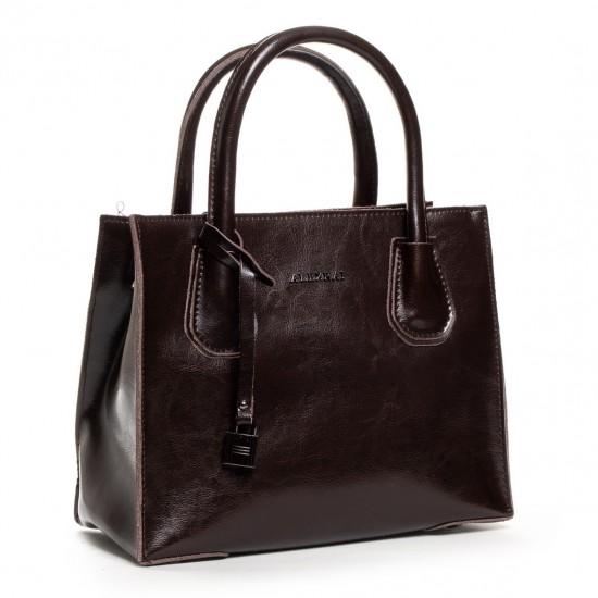Жіноча сумка з натуральної шкіри ALEX RAI 19-P1527 коричневий