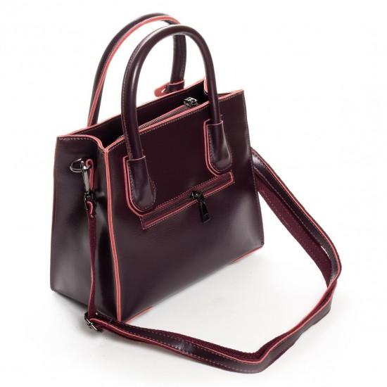 Жіноча сумка з натуральної шкіри ALEX RAI 19-P1527 бордовий