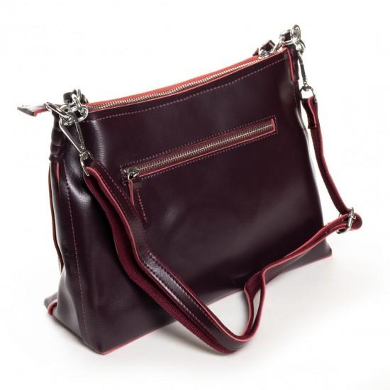 Жіноча сумка з натуральної шкіри ALEX RAI 17-8900 бордовий