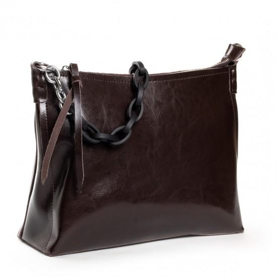 Женская сумка из натуральной кожи ALEX RAI 17-8900 коричневый