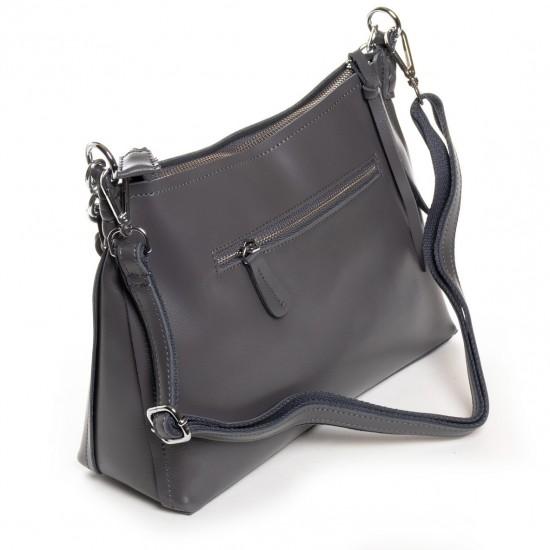 Жіноча сумка з натуральної шкіри ALEX RAI 17-8900 сірий