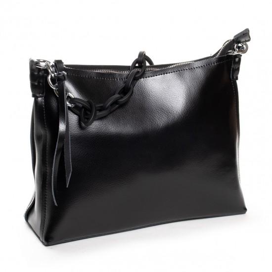Жіноча сумка з натуральної шкіри ALEX RAI 17-8900 чорний