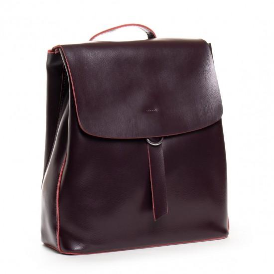 Жіноча рюкзак з натуральної шкіри ALEX RAI 18-377 бордовий