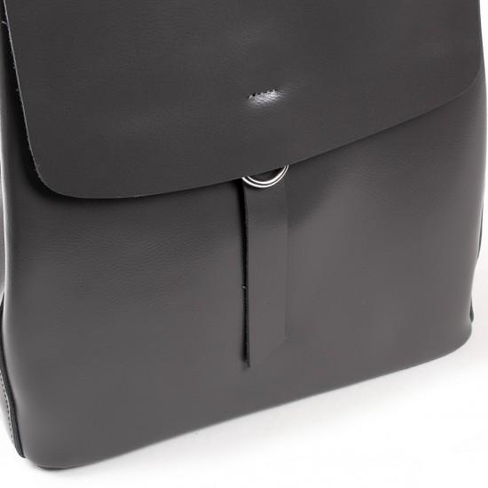 Женская рюкзак из натуральной кожи ALEX RAI 18-377 серый