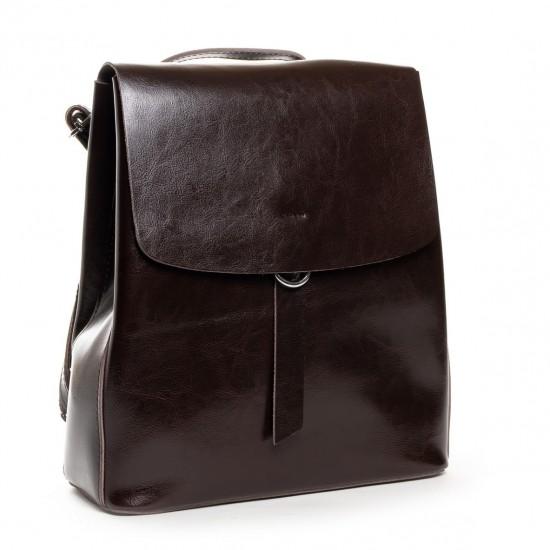 Женская рюкзак из натуральной кожи ALEX RAI 18-377 коричневый