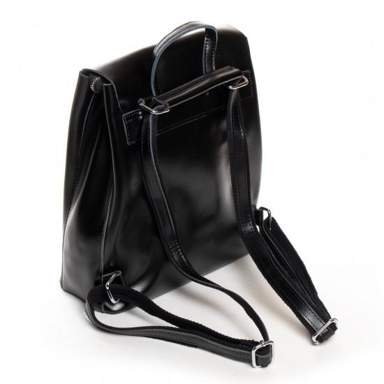 Жіноча рюкзак з натуральної шкіри ALEX RAI 18-377 чорний