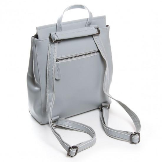 Жіночий рюкзак з натуральної шкіри ALEX RAI 3206 сіро-блакитний