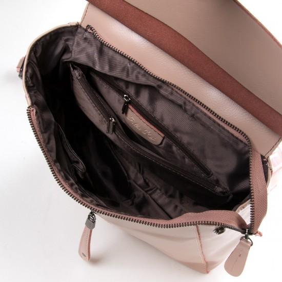 Женский рюкзак из натуральной кожи ALEX RAI 3206 пудра