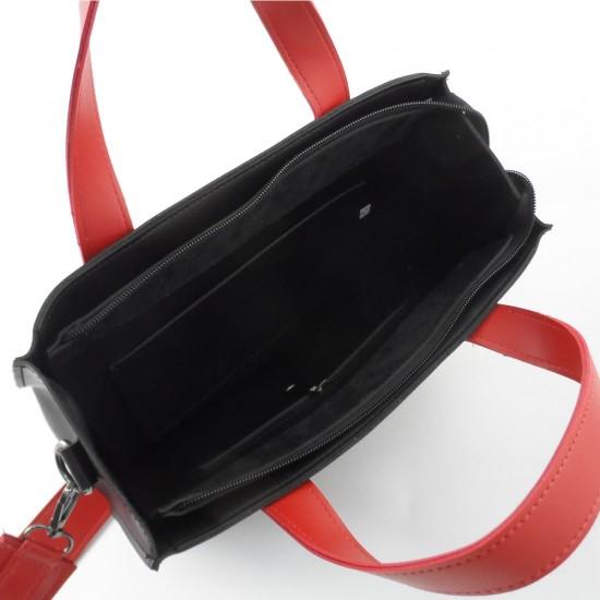 Женская модельная сумка LARGONI 1981 черный + красный