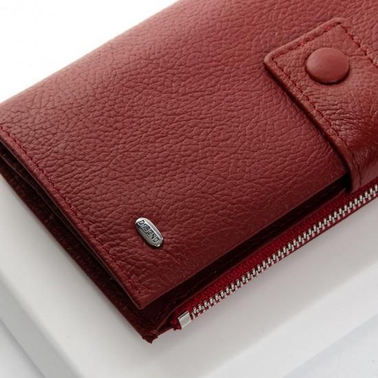 Женский кожаный кошелек dr.Bond PD WMB-1 бордовый