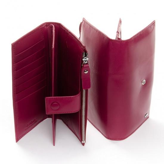 Жіночий шкіряний гаманець dr.Bond PD WMB-1 рожевий