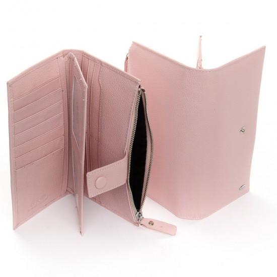 Жіночий шкіряний гаманець dr.Bond PD WMB-1 пудра