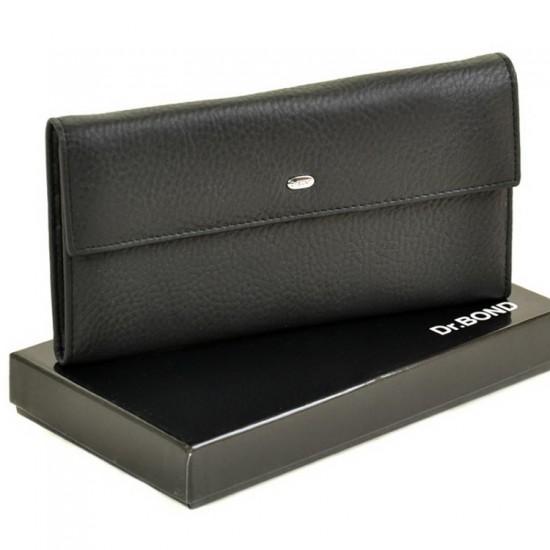 Мужской кожаный портмоне dr.Bond M67 черный