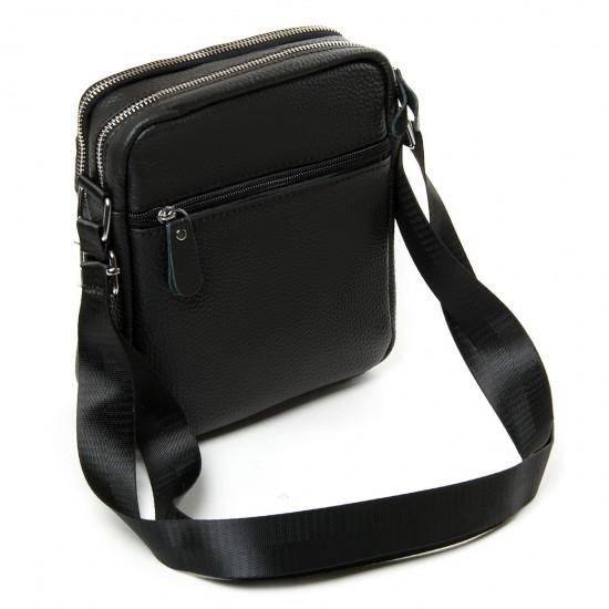 Мужская сумка-планшет из натуральной кожи dr.Bond 1202 черный