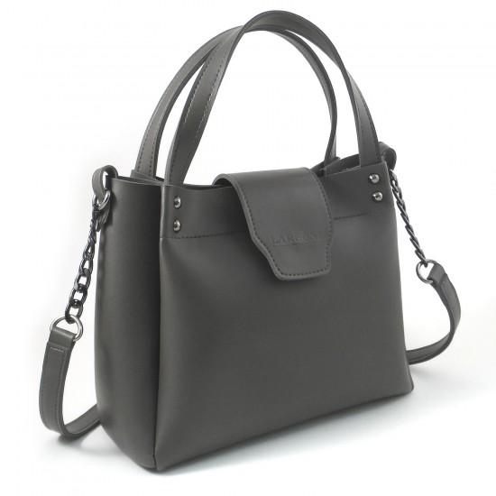 Жіноча модельна сумка LARGONI 1742A темно-сірий