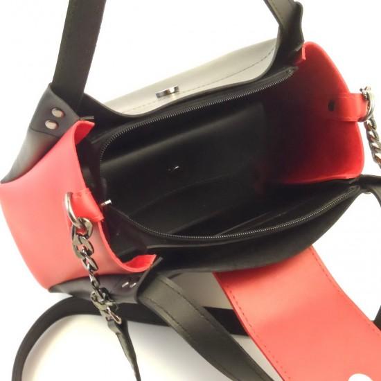 Женская модельная сумка LARGONI 1742A черный + красный