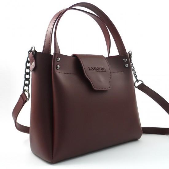 Женская модельная сумка LARGONI 1742A бордовый