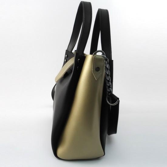 Жіноча модельна сумка LARGONI 1742A чорний + золото