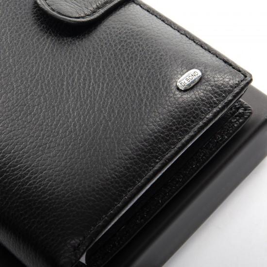 Мужской кожаный портмоне dr.Bond M1 черный