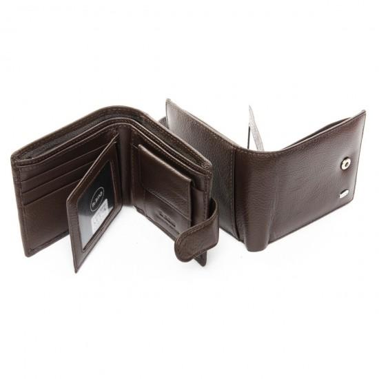 Мужской кожаный портмоне dr.Bond M14 кофейный
