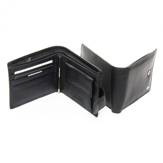Чоловічий шкіряний портмоне dr.Bond M13-1 чорний