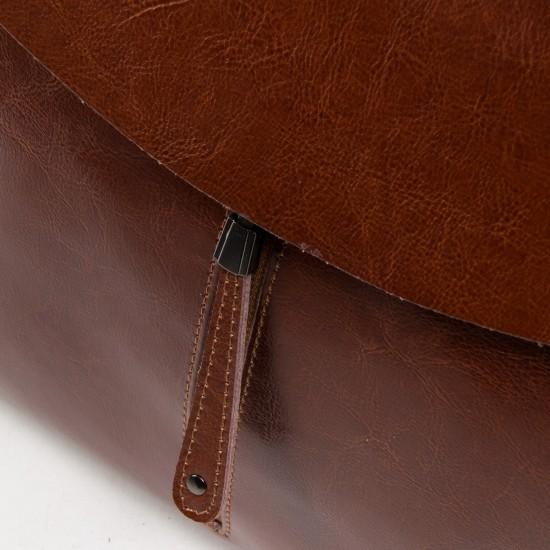 Женский рюкзак из натуральной кожи ALEX RAI 3206 коричневый
