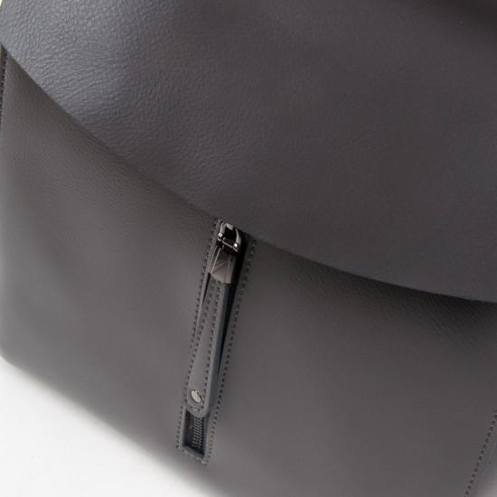Женский рюкзак из натуральной кожи ALEX RAI 3206 серый