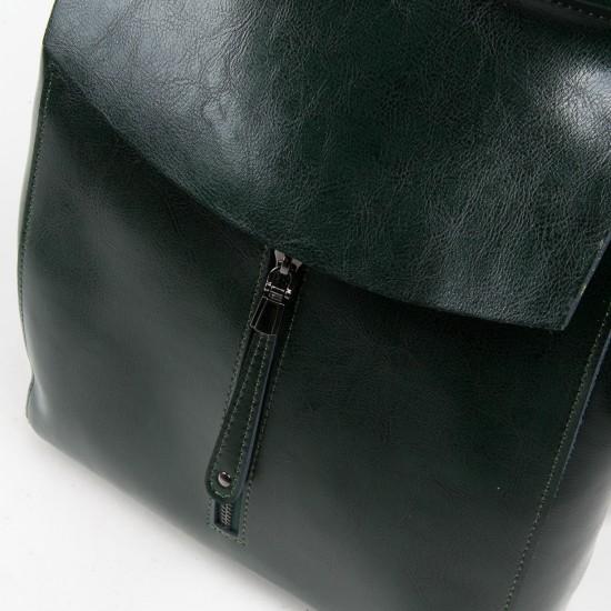 Жіночий рюкзак з натуральної шкіри ALEX RAI 3206 зелений