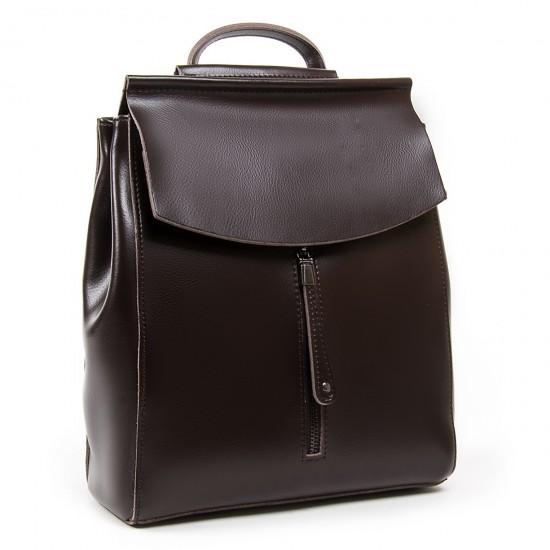 Жіночий рюкзак з натуральної шкіри ALEX RAI 3206 кавовий