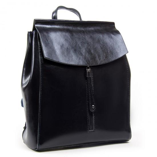 Жіночий рюкзак з натуральної шкіри ALEX RAI 3206 темно-синій