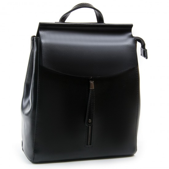 Женский рюкзак из натуральной кожи ALEX RAI 3206 черный
