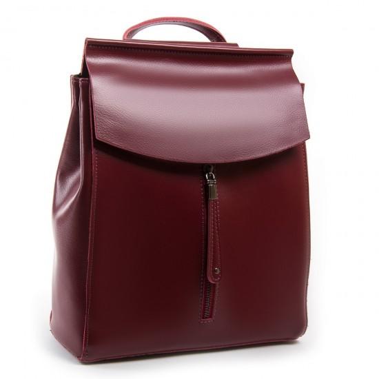 Женский рюкзак из натуральной кожи ALEX RAI 3206 бордовый