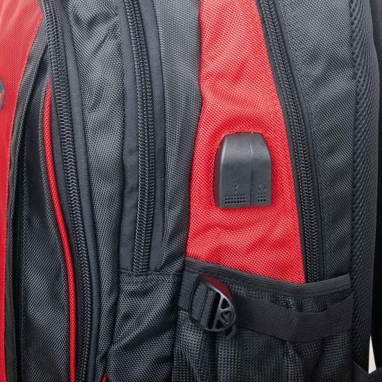 Городской рюкзак  Power In Eavas 9063 черный + красный