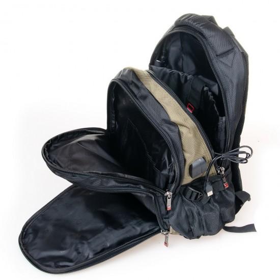 Городской рюкзак  Power In Eavas 9063 черный + зеленый