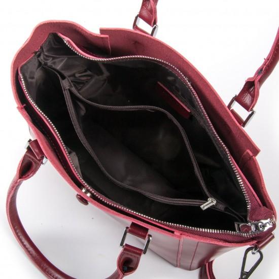 Жіноча сумка з натуральної шкіри ALEX RAI 2107 бордовий
