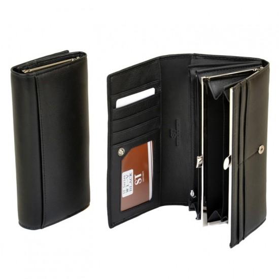 Великий жіночий гаманець Sergio Torretti W1-V чорний