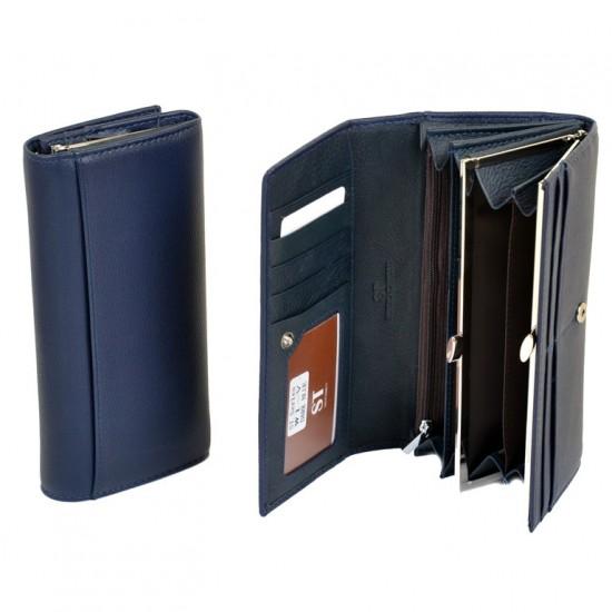 Великий жіночий гаманець Sergio Torretti W1-V  темно-синій
