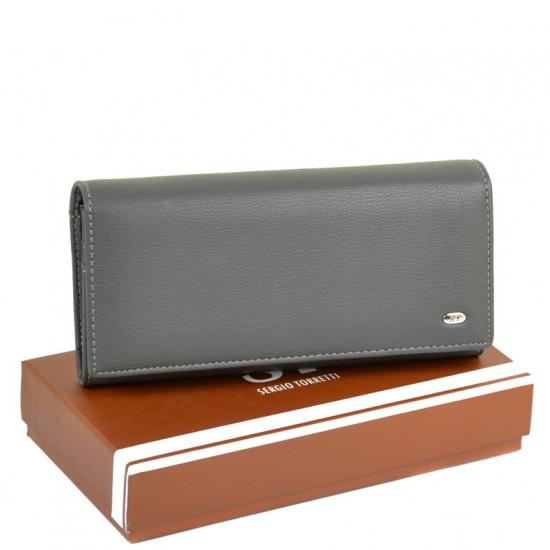 Большой женский кошелек Sergio Torretti W1-V серый