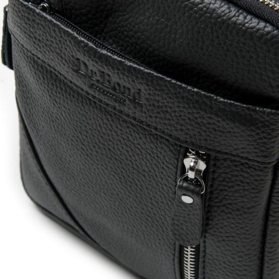 Мужская сумка-планшет из натуральной кожи dr.Bond 6618 черный