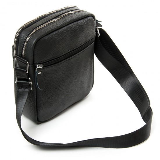 Чоловіча сумка-планшет з натуральної шкіри dr.Bond 14331 чорний