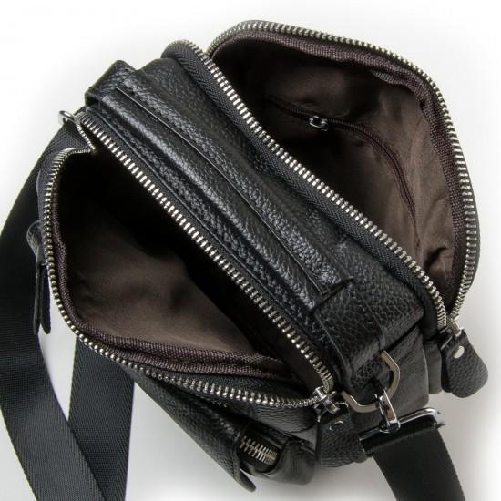 Чоловіча сумка-планшет з натуральної шкіри dr.Bond 20109 чорний